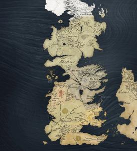 La mappa di Game of Thrones