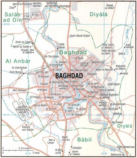 Baghdad Map Iraq