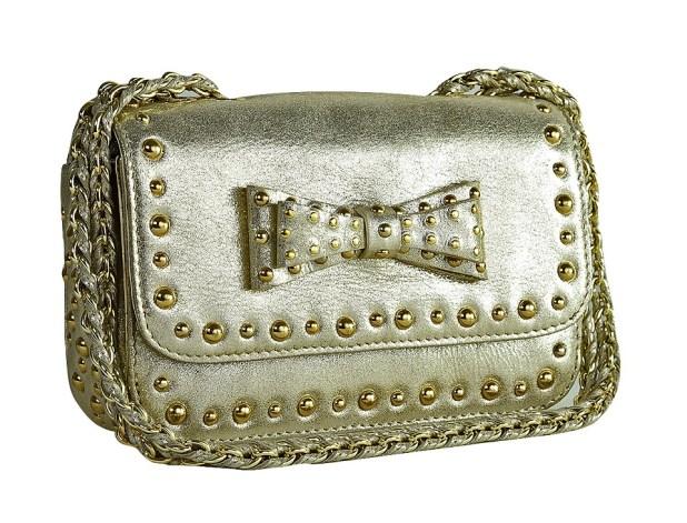 Da Milano Gold Studded Sling Bag