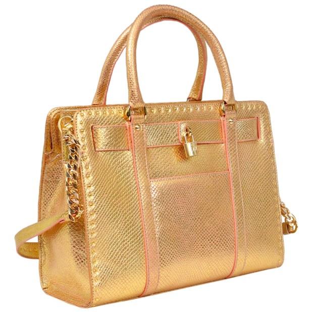 Da Milano Gold Pink Handbag