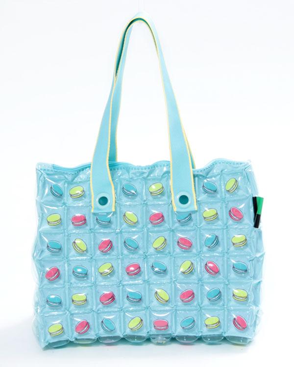 Inflat Decor Blue Bubble Travy Bag