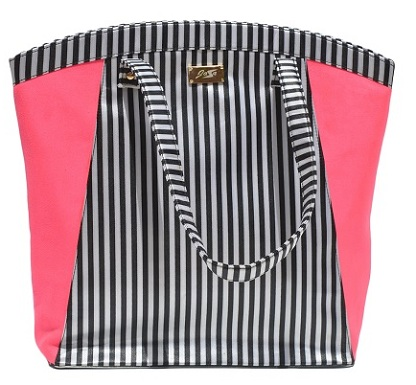 GetNatty Pink Stripes Tote