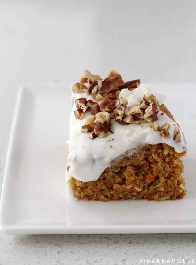Vegan Carrot Cake - Bakeaholic.ca