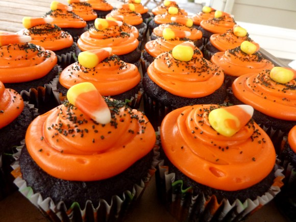 "These ""Black Velvet"" Halloween Cupcakes are a spooky black version of the perfect red velvet cupcake, made especially for Halloween!"