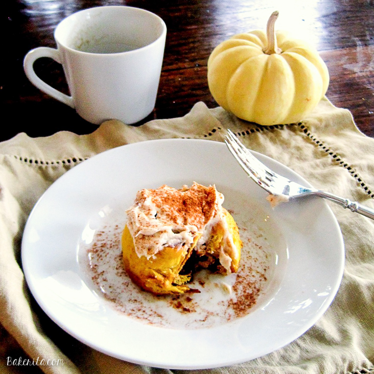 These Pumpkin Cinnamon Rolls are such a wonderful and indulgent breakfast or brunch treat! This easy recipe will definitely be a favorite.