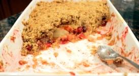 Cranberry Apple Honey Crumble