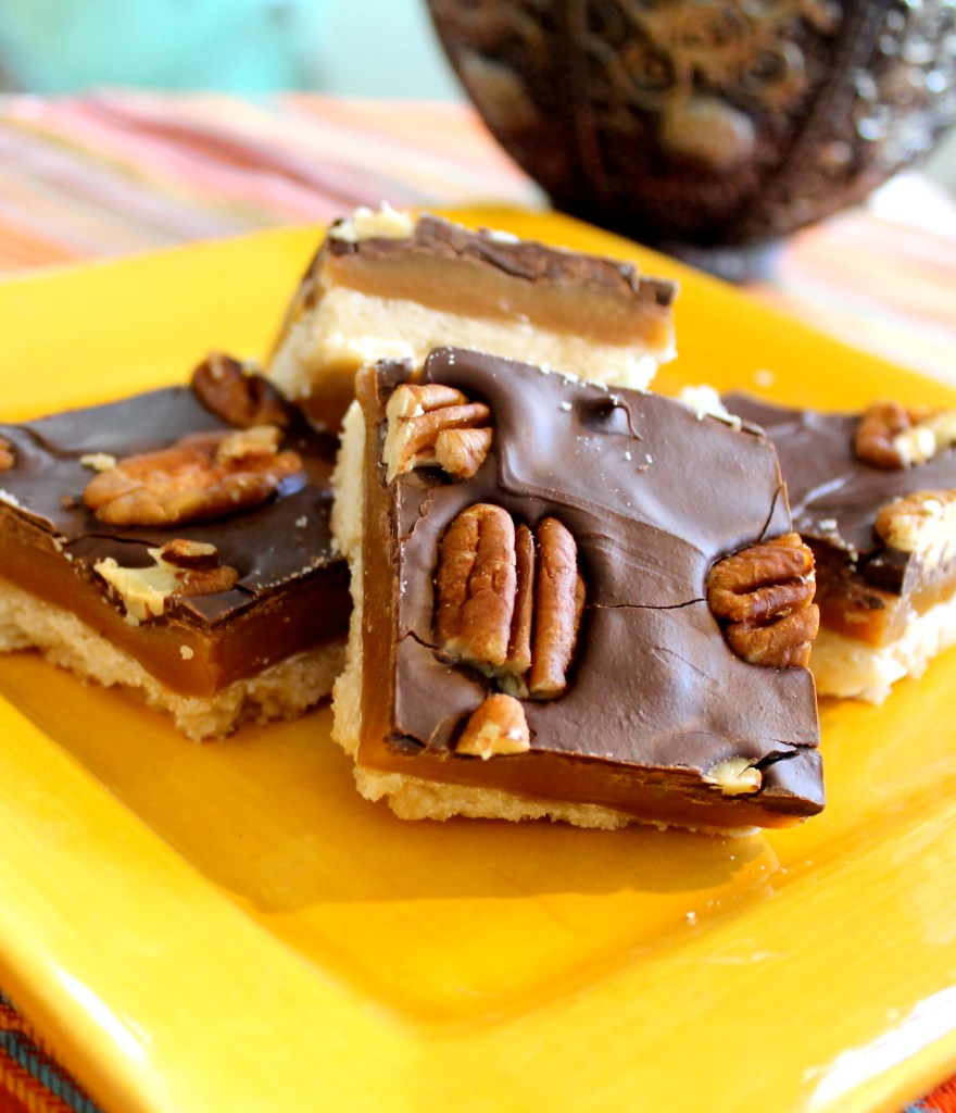 These Gooey Turtle Bars are crisp, buttery shortbread covered in a layer of gooey caramel, and topped with chocolate and pecans. Is there anything better?!