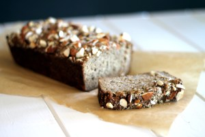 Almond Banana Bread from Bakerita.com | A delicious recipe that's gluten-free, refined sugar free, and paleo.