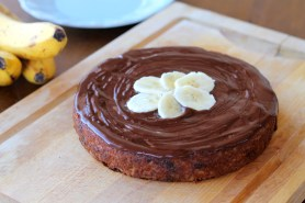 Banana Cake with Chocolate Ganache (GF, Paleo)
