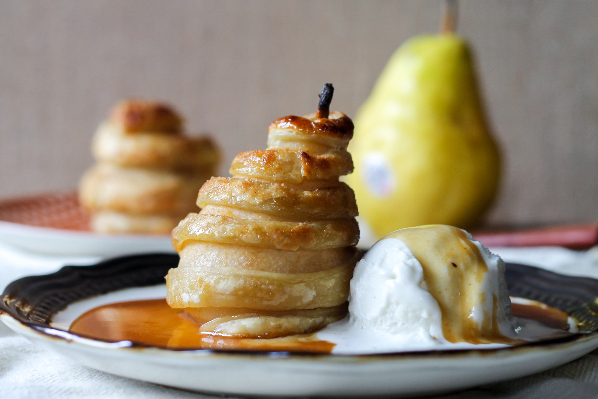 Apple Baked Brie in Puff Pastry Apple Cider Poached Pears in Cinnamon ...