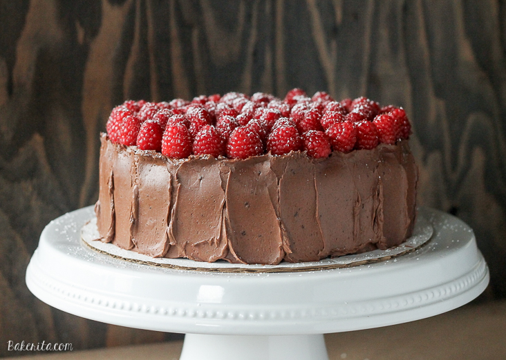 Mocha Raspberry Cake has two layers of moist chocolate cake, a layer ...