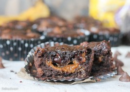 Caramel Filled Chocolate Banana Bread Muffins