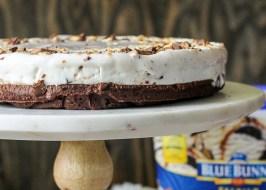 Bunny Tracks Ice Cream Brownie Pie