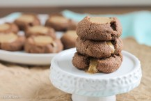 Chocolate Almond Butter Thumbprint Cookies (Paleo + Vegan)