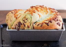 Cheesy Pesto Swirl Bread