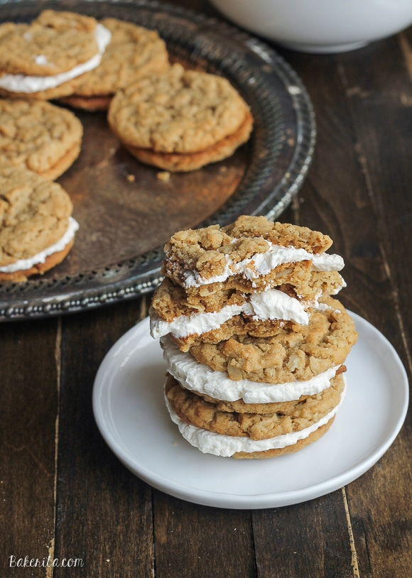 Peanut Butter Oatmeal Sandwich Cookies with Marshmallow ...