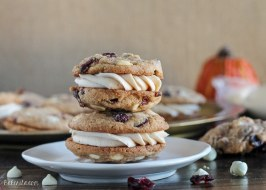 Pumpkin Spice Cookie Sandwiches with Cream Cheese Filling