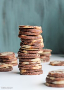Chocolate Vanilla Swirl Icebox Cookies - Bakerita