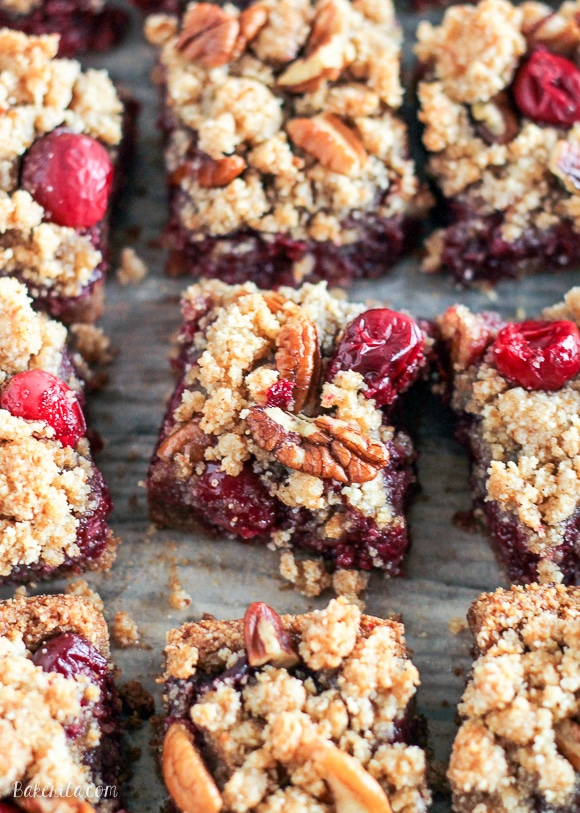 These Paleo Cranberry Crumb Bars use leftover cranberry sauce to make ...