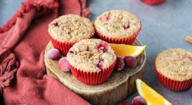 Cranberry Orange Muffins (Vegan)