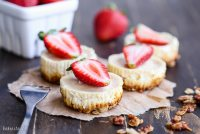 Greek Yogurt Cheesecakes with Granola Crust (Gluten Free + Refined Sugar Free)