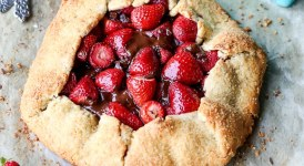 Chocolate Strawberry Galette (Gluten Free + Paleo)