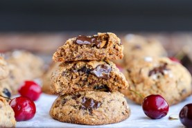 Paleo Cherry Almond Chocolate Chunk Cookies