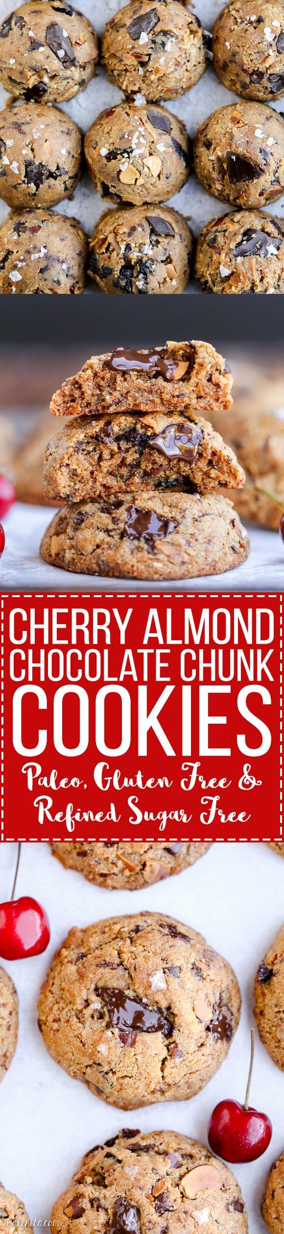 Paleo Cherry Almond Chocolate Chunk Cookies - Bakerita