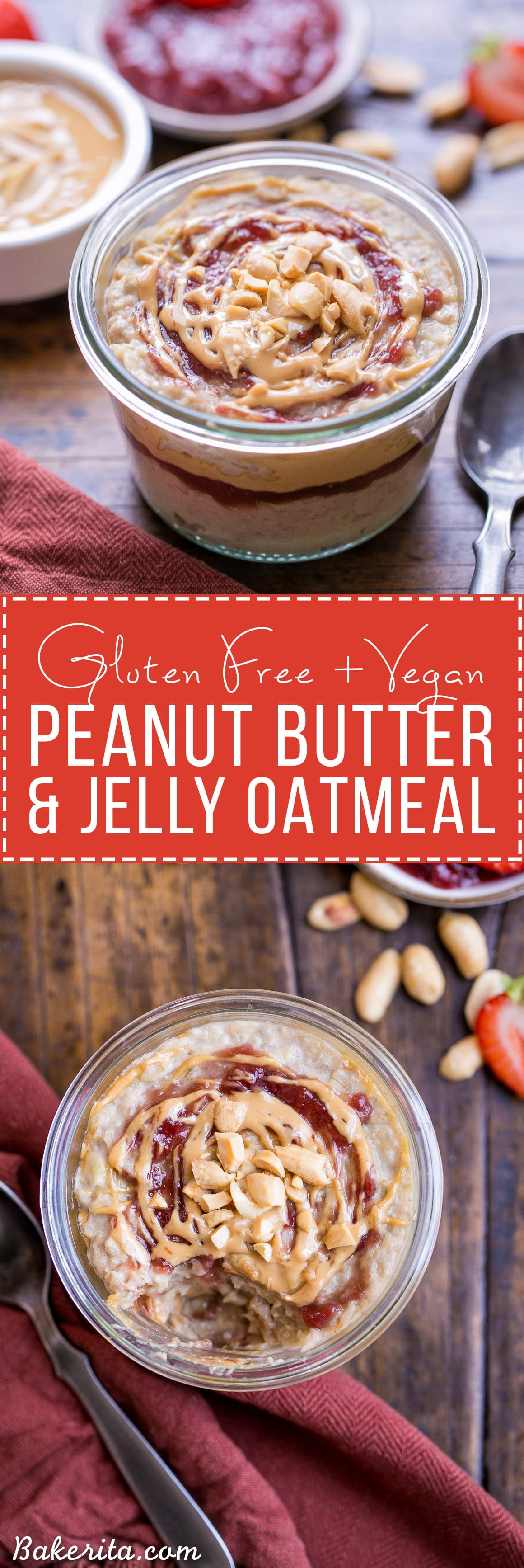 Start your morning with Peanut Butter & Jelly Oatmeal for a healthy ...