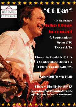 John Otway live at Bakewell Town Hall