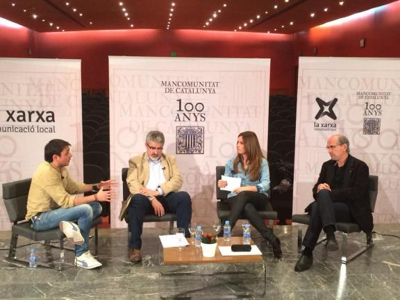 Moment del debat de Balaguer que forma part del 10è capítol de la Sèrie documental (Foto: Balaguer Televisió)