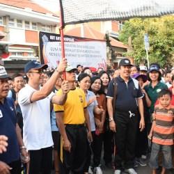 Ribuan Peserta Jalan Santai Ramaikan HUT ke-229 Kota Denpasar