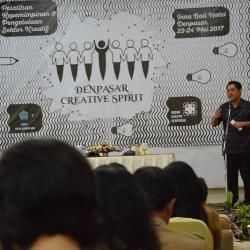 Rai Mantra Buka Workshop Badan Kreatif Denpasar