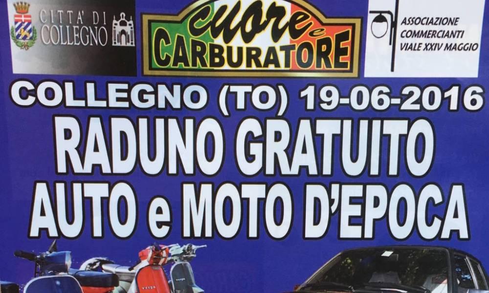 Raduno auto e moto d'epoca a Collegno (To).