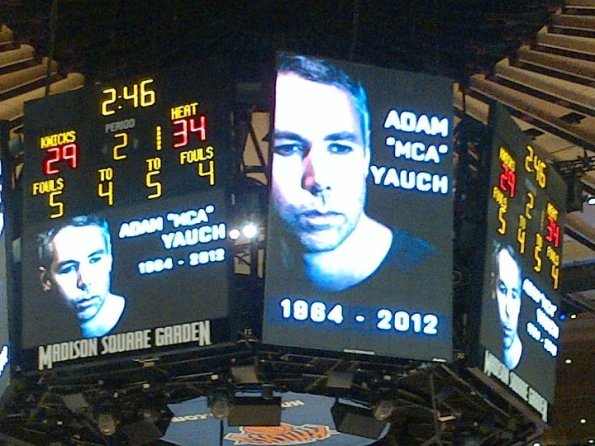 MCA on the Madison Square Garden jumbo screen