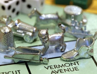 Cat Monopoly token
