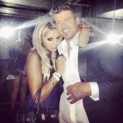 Robin Thicke with fan Lana Scolaro