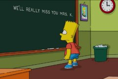 Simpsons pay tribute to Marcia Wallace, voice of teacher Edna Krabappel.