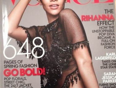 Rihanna on Vogue March 2014 cover.