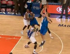 Dirk Nowitzki Hits Buzzer Beater Over Melo