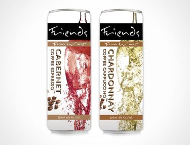 Friends Fun Wine - Cabernet Coffee Espresso and Chardonnay Coffee Cappuccino