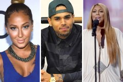 Chris Brown, Adrienne Bailon and Tamar Braxton