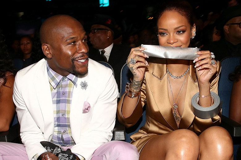 Rihanna Duct Tapes Floyd Mayweather's Mouth Shut