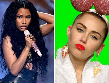 Nicki Minaj and Miley Cyrus