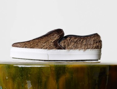 Celine Skate Slip-On - Natural Hairy Goatskin