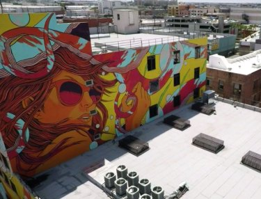 A Look At Los Angeles & Its Murals Via Drone