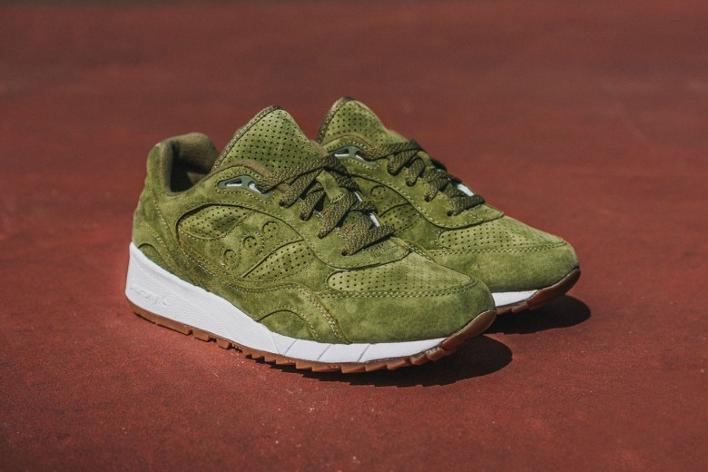 Packer Shoes x Saucony Shadow 6000 Olive Suede