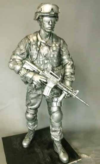 'The National Guard soldier is on display at the National Guard Memorial Museum in Washington, D.C.""