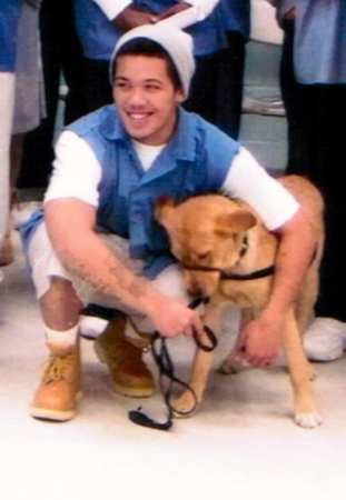 Bon Ryan Salinas with service-dog-in-training Savoy