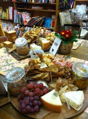Cheese and crackers for the Ivy Bookshop.